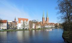 Beautiful Lbeck (ChristianeBue) Tags: water germany deutschland boot boat spring wasser dom lbeck altstadt schleswigholstein frhling malerwinkel