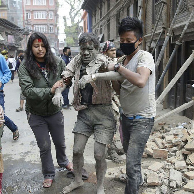Deeply sad  because of Nepal earthquake tragedy there are more then hundred people killed in this tragedy..sad 😔 my condolences for those people who killed in this tragedy..feeling sad for those families who lost their family members. Stay stron