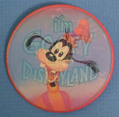 Vintage Disneyland Goofy Flicker button - front