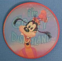 Vintage Disneyland Goofy Flicker button - front