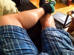 Summer hairy legs (paul.knightley) Tags: bulge muscle man hairy summer shorts legs