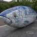 THE BIG FISH NEAR THE LAGAN WEIR IN BELFAST [BY JOHN KINDNESS] REF-104712