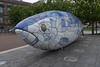 THE BIG FISH NEAR THE LAGAN WEIR IN BELFAST [BY JOHN KINDNESS] REF-104712