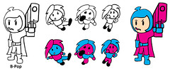 B-Pop Kid Cartoon Character Japanimation Anime Manhua Doll Action Figure Girl Female Superhero Punch Kick Toy Halloween Ninja Sword Toy Comic Book Super Hero Karate Martial Arts Kung Fu Game Suit  Magazine Costume Poster Image Shonen Jewelry Seinen Chibi