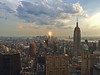 A Beacon of Freedom (gimmeocean) Tags: newyorkcity ny newyork manhattan empirestatebuilding freedomtower oneworldtradecenter iphoneography iphonenography iphone5s