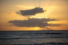 sunset on waikiki (lhirlimann) Tags: canonef70200mmf28lisusm canoneos5dmarkii oahu clouds hawaii landscape lightroom:vibrance=34 nuages ocanpacifique orange pacificocean paysage sunset usa ocanpacifique coucherdesoleil
