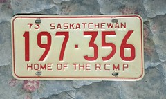 SASKATCHEWAN 1973 ---LICENSE PLATE, YEAR IN SERIAL #197356 (woody1778a) Tags: saskatchewan license plates fortrade traders trading hobby