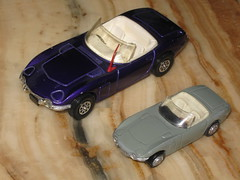 Corgi inspired Playart Toyota 2000GT convertable (sms88aec) Tags: corgi inspired playart toyota 2000gt convertable