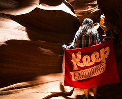 Keep On Exploring (eilerkaylaj) Tags: glencanyon desert slotcanyon keepexploring lake water sunrise moonset sunbeams canyon portrait arizona utah outdoors nationalpark