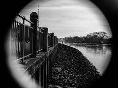Focus (Dan-Schneider) Tags: street streetphotography schwarzweiss scene schneider silhouette silence blackandwhite bw best bremen urban einfarbig human europe focus lines olympus omdem10 moment monochrome river water people photography prime