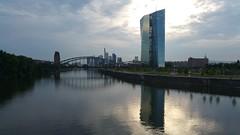 Frankfurt Skyline reflections (whilbl) Tags: viamail ezb skyline frankfurt ecb sundown clouds wolken