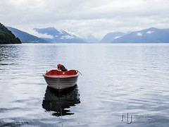 Big Water, Little Boat (Nigel Jones LRPS) Tags: water norway little large vik fjord motor viksory