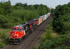 Freaky Fresh (Joseph Bishop) Tags: railroad cn train track tracks rail railway trains rails ge railfan brantford tier4 gevo 3069 cndundassubdivision et44ac