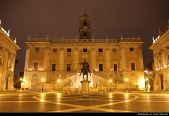 Piazza del Campidoglio @ Night, Rome, Italy (JH_1982) Tags: piazza del campidoglio capitoline square michelangelo buonarroti palazzo senatorio statue kapitol colina capitolina capitole      historic architecture landmark building lights light leuchten dunkel dark darkness nacht night nuit noche notte    lumire luz   evening rome roma rom       italy italia italien italie    itlia