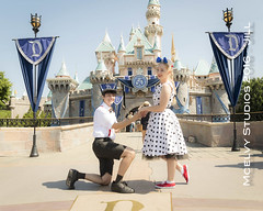 Disneyland proposal (photoobsessed1) Tags: propsal surprise engagement disneyland couple amusementpark themepark man woman engaged love