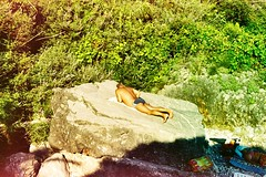 Just chillin' ... U ? (annabochkareva) Tags: tan stone filmisnotdead kodak nikon filmcamera filmphotography film 35mm beach bar crvenaplaza plaza crvena montenegro crnagora sun chilling