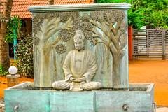 Buddha Statue Samarpan GuestHouse (wandercrumbs) Tags: buddha statue samarpan guesthouse auroville beach pondicherry puducherry