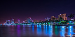 Florida Life: West Palm Beach (Thncher Photography) Tags: sony a7r2 sonya7r2 ilce7rm2 zeissfe1635mmf4zaoss fx fullframe longexposure noctography nightphotography scenic landscape waterscape cityscape buildings highrises lights reflections westpalmbeach florida southeastflorida palmbeachcounty atlanticocean