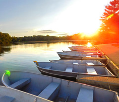 Summer Serenity (Larry the Biker) Tags: summer boats water lake park calm sunset stonycreekmetropark washingtontownship michigan