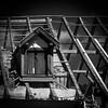 La Chambre du Poète (Clydomatic) Tags: architecture fenêtre rideaux chienassis chambre charpente nuit