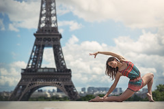 (dimitryroulland) Tags: nikon d600 85mm 18 dimitry roulland natural light eiffeltower dance dancer paris france urban street city gym gymnast gymnastics performer art