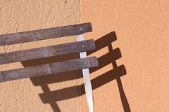 Chair and shadow II (Jan van der Wolf) Tags: map15712vv chair shadow schaduw wall muur simple stoel