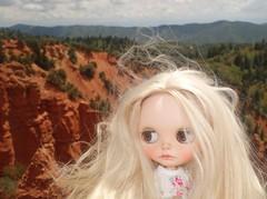 Phoebe at Devil's Kitchen overlook