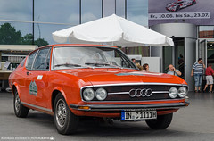 1973 Audi 100 Coupe S. (andreasheinrich) Tags: heidelberghistoric oldtimerrally historiccar audiag auditradition audi100coupes audiforum neckarsulm germany badenwrttemberg deutschland historischesfahrzeug nikond7000
