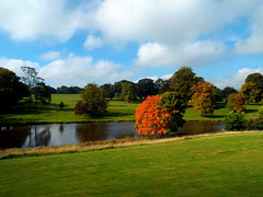 DSCN23472 (dkmcr) Tags: ripleycastle ripon yorkshire castle landscape scenery daytrip tourism outdoor heritage weddingvenue 27th september 2015 ripley lake reflection
