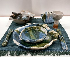 """Sea Setting for One"" by Brian Holland (Christine Cox @ potfest) Tags: dinnerforone potfestinthepens penrith cumbria pottersmarket ceramic"