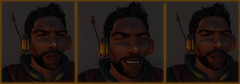 Major Fire Battles To Regain Control Of His Mind (Teddi Beres) Tags: second life sl science fiction scifi grimace pain mind control man struggle conflict