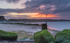 Warning Skies (nicklucas2) Tags: seascape beach groyne lowtide sea sand seaside avonbeach dawn cloud