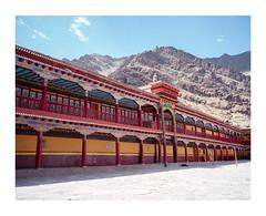 Hemis Monastery, Ladakh (georgedeacon.jp91) Tags: mamiya7 monastery hemis ladakh india ektar100 kodak mediumformat rangefinder buddhism travel photoborder