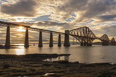 Forth Bridge Sunset (Colin Myers Photography) Tags: forth bridge sunset forthbridge forthbridgesunset forthrailbridge rail railway firth sunny queensferry scotland scottish edinburgh wwwcolinmyerscom colinmyersphotography