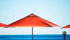 minimalURBAN III (Lunor 61) Tags: abstract abstrakt minimal minimalismus minimalistic urban summer blau blue orange umbrella lamp france menton cte dazur