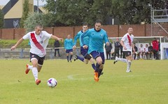Mark Burbidge takes aim for Bankies fourth goal (Stevie Doogan) Tags: clydebank glasgow perthshire exsel group sectional league cup wednesday 10th august 2016 holm park