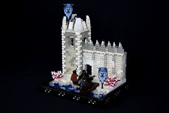 Svellbjorn Tower (soccersnyderi) Tags: lego moc creation model snow winter ice landscape design tower wall castle fortress medieval fantasy mitgardia mitgardian