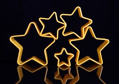 Stars (Karen_Chappell) Tags: stilllife star yellow black shape stars reflection five 5 balance
