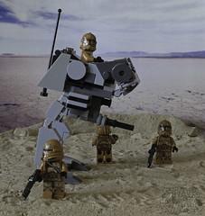 Jedi Hunting (LegoLee) Tags: bradbury lego clonetrooper walker minifig minifigure toy desert sand starwars canon 60d