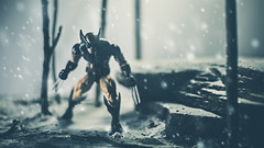 Hunter or Hunted (3rd-Rate Photography) Tags: wolverine marvellegends toy marvel logan toyphotography snow canon 50mm 5dmarkiii jacksonville florida 3rdratephotography earlware