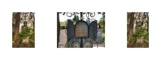 Grave, Grab Thomas Bernhard, Hedwig Stavianicek, Franz Stavianicek - Grinzinger Friedhof, Wien Döbling