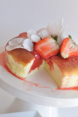 japanese cotton cheesecake (very light version if you replace sugar can be used as dukan recipe as well) (maevasarahoney) Tags: light japanese strawberry soft pastel no apto fat low fluffy cheesecake dolce queso cotton diet salsa quark japones fromage mairie frais japonais giapponese calories dieta gâteau ligero fraises fragole dukan soffice smoothassilk baine cottone untar erdbeersauce kaloriearm guiltfreecake