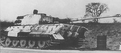 "Heavy tank ""King tiger"" from the 509 th heavy tank battalion, captured intact by the Soviet troops"