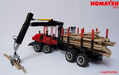 02_KOMATSU_895 (LegoMathijs) Tags: tree scale wheel forest giant tile lights town team model cabin woods lego suspension diesel seat wheels engine logging plate tire rubber boom technic vehicle blade trunks shovel functions eight komatsu slope operator gentle grapple 125 harvesting telescopic adjustable axle the moc loggers 895 forwarder loadgate loadflex legomathijs 74awi4v