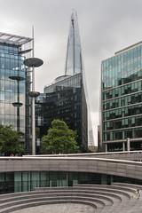 The Shard & the spiral (koalie) Tags: uk england bird london animal architecture buildings child unitedkingdom pigeon gb hopping theshard 201409london