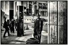 In Brussel (mario vanhee) Tags: bw fuji belgi brussel zw snt straatfotografie
