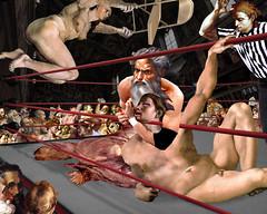 """Sudden Death"" (barry.kite@att.net) Tags: eve adam god wrestling jesus michelangelo renaissance sistinechapel"