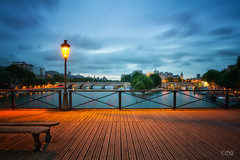 Early morning walkabout (brenac photography) Tags: bridge paris france sunrise ledefrance cityscape sigma pont bluehour fr hdr cpl nisi oloneo sigmaart