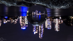 Inverted (PhilPhotosity) Tags: glass night ball weird upsidedown crystal sphere trippy inverted woah crystalball goldcoast
