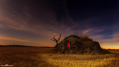 Cabana de volta (www.jorgelazaro.es) Tags: lightpainting luz azul luces noche paisaje ruina estrellas nocturna campo choza linterna pedraseca cabañadevolta